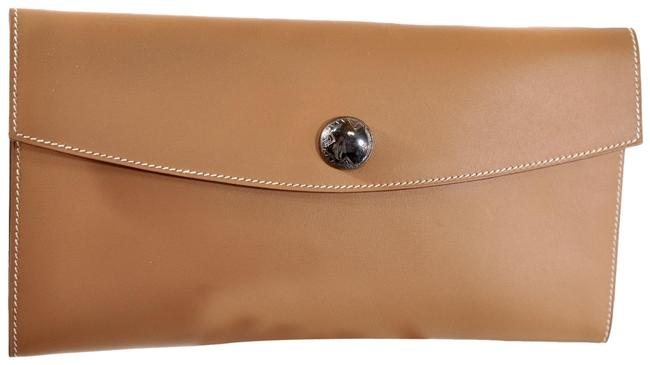 Item - Soft Smooth Clutch/Pouch/Pochette In Brown Leather Clutch