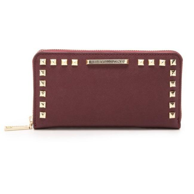 Item - Cherry Red Ava Zip Studded Wallet