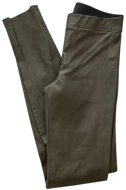 Item - Green Olive Leather Pants Size 0 (XS, 25)