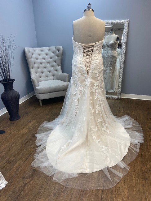 """Item - Ivory Over Champagne """"Lotus"""" Fit and Flare Bridal Gown Traditional Wedding Dress Size 24 (Plus 2x)"""
