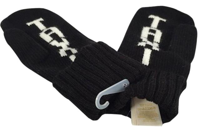 Item - Black/White Taxi Mittens One Size