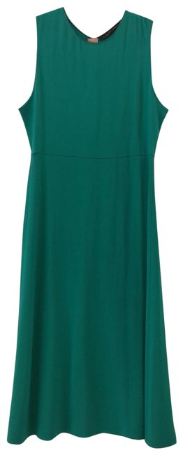 Item - Teal Mid-length Short Casual Dress Size 4 (S)