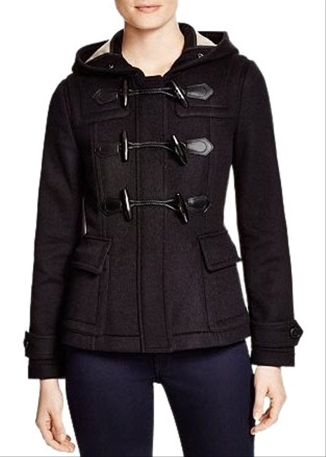 Burberry Black Short Blackwell Coat Size 2 (XS) Burberry Black Short Blackwell Coat Size 2 (XS) Image 1