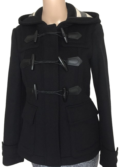 Burberry Black Short Blackwell Coat Size 4 (S) Burberry Black Short Blackwell Coat Size 4 (S) Image 1