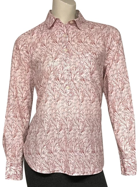Item - Pink Floral Tunic Size 8 (M)