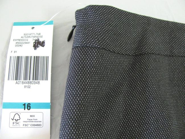 Nine West New Women Size 16 Xl Dark Charcoal Suit Pattern Dot Pattern Women Skirt Gray