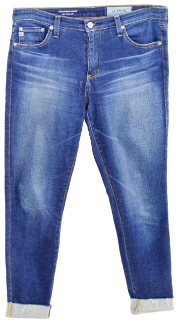 Item - Blue Light Wash The Legging Ankle Super Skinny Ankle #187-72 Capri/Cropped Jeans Size 30 (6, M)