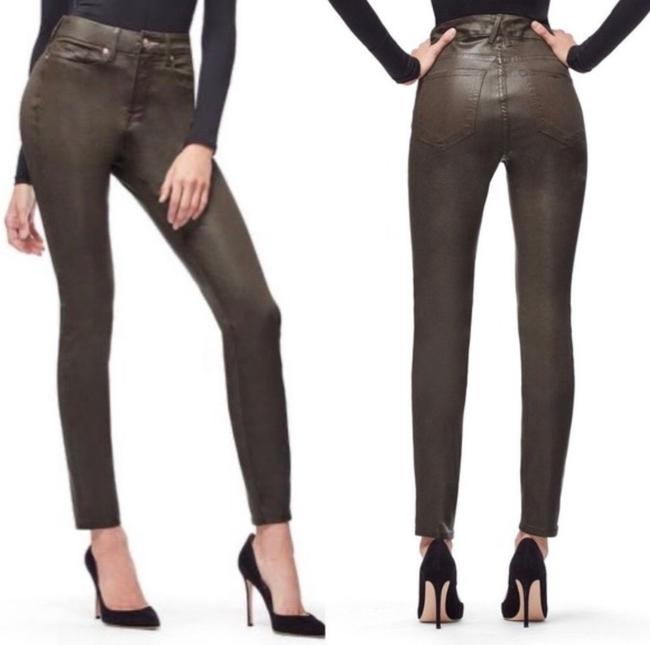 Item - Olive Green Legs Coated Capri/Cropped Jeans Size 34 (12, L)