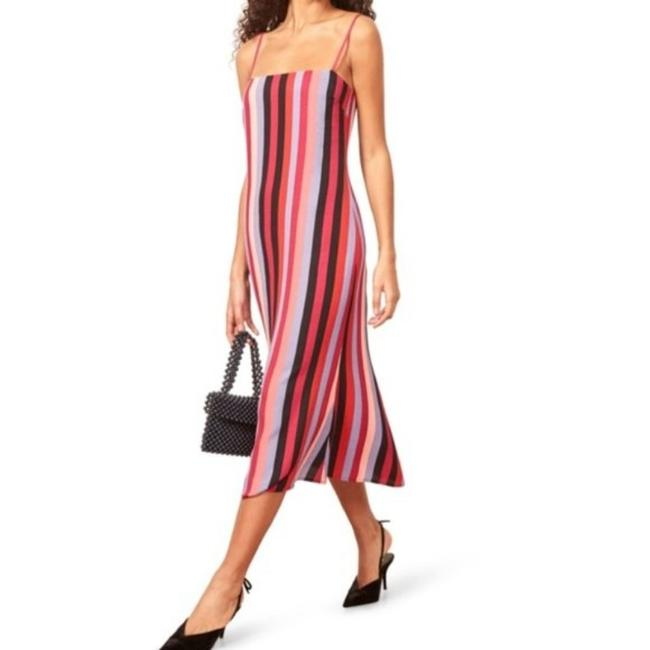Item - Multi-color Rosaly Striped Midi Mid-length Short Casual Dress Size 8 (M)