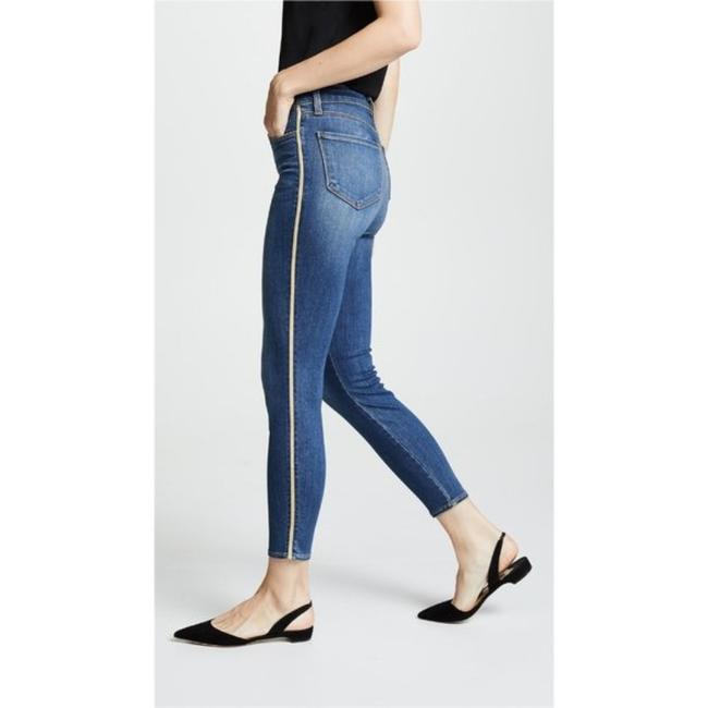 L'AGENCE Blue Gold Medium Wash High Rise Skinny Capri/Cropped Jeans Size 28 (4, S) L'AGENCE Blue Gold Medium Wash High Rise Skinny Capri/Cropped Jeans Size 28 (4, S) Image 2