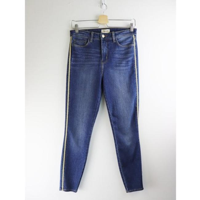 L'AGENCE Blue Gold Medium Wash High Rise Skinny Capri/Cropped Jeans Size 28 (4, S) L'AGENCE Blue Gold Medium Wash High Rise Skinny Capri/Cropped Jeans Size 28 (4, S) Image 4