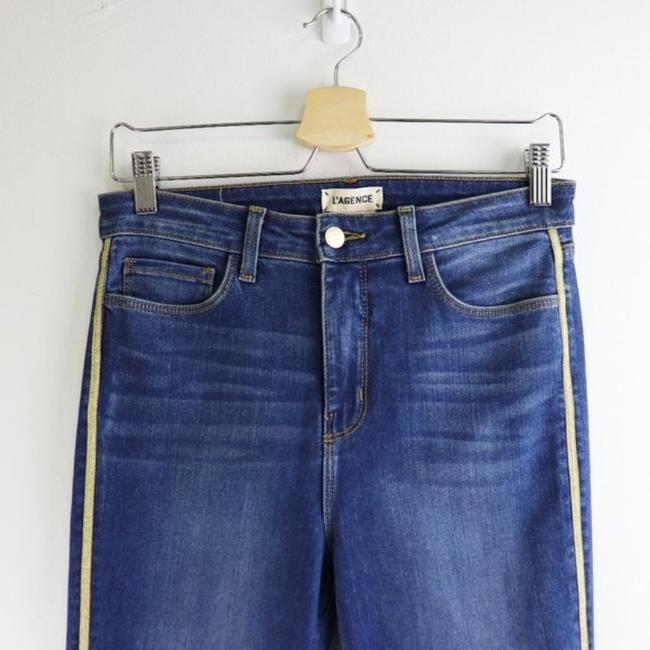 L'AGENCE Blue Gold Medium Wash High Rise Skinny Capri/Cropped Jeans Size 28 (4, S) L'AGENCE Blue Gold Medium Wash High Rise Skinny Capri/Cropped Jeans Size 28 (4, S) Image 5