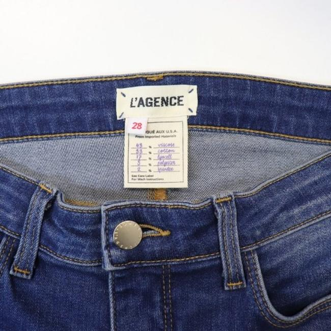 L'AGENCE Blue Gold Medium Wash High Rise Skinny Capri/Cropped Jeans Size 28 (4, S) L'AGENCE Blue Gold Medium Wash High Rise Skinny Capri/Cropped Jeans Size 28 (4, S) Image 6