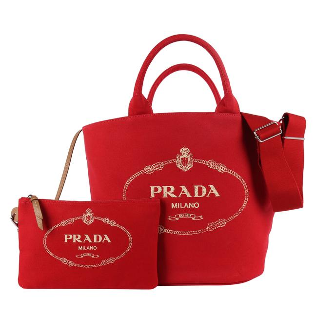 Item - Canapa New 8845 Red Canvas Tote