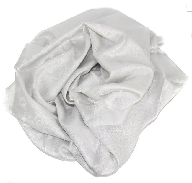 Item - Silver New Monogram Jacquard Visetos Shawl Scarf/Wrap