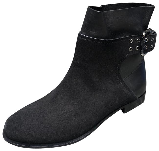 Item - Black New Buckle Suede and Leather Ankle Boots/Booties Size EU 37 (Approx. US 7) Regular (M, B)