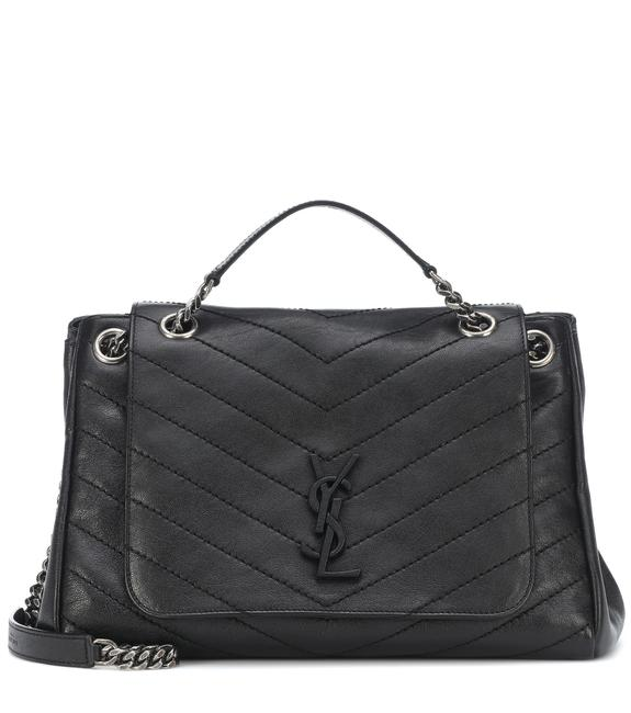 Saint Laurent Nolita Medium Black Leather Shoulder Bag Saint Laurent Nolita Medium Black Leather Shoulder Bag Image 1