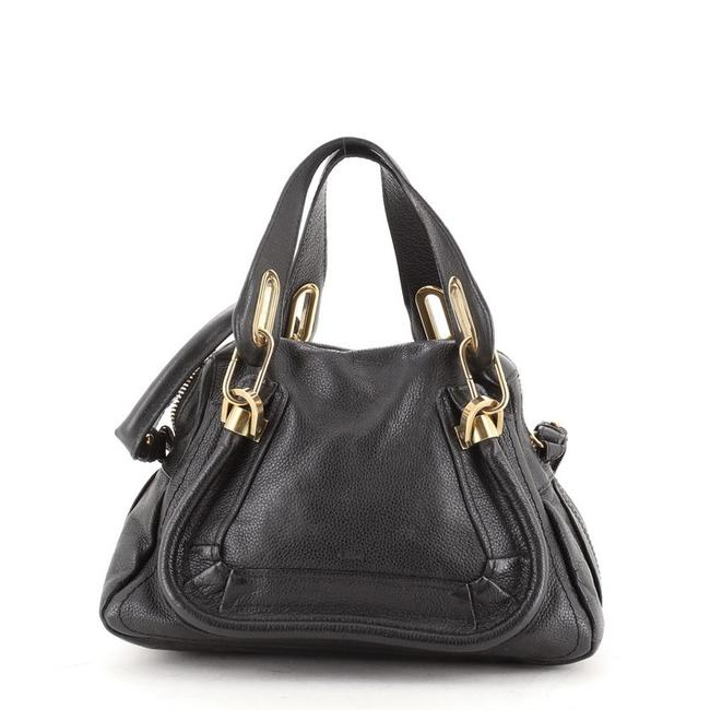 Item - Top Handle Bag Paraty Small Black Leather Satchel