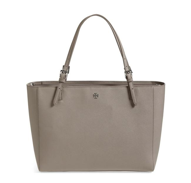 Item - York Buckle French Grey Saffiano Leather Tote