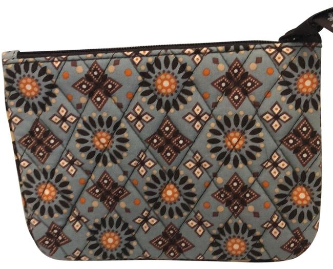 Item - Brown and Blue Cosmetic Bag