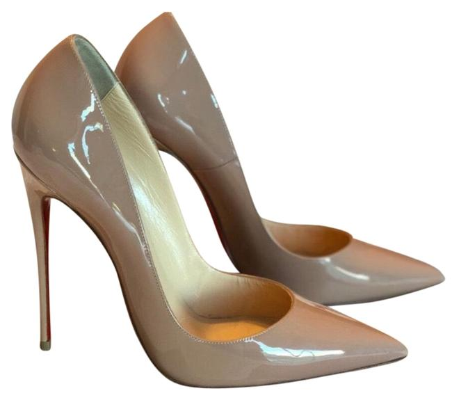 CHRISTIAN LOUBOUTIN Patent So Kate 120 Pumps 39 Nude