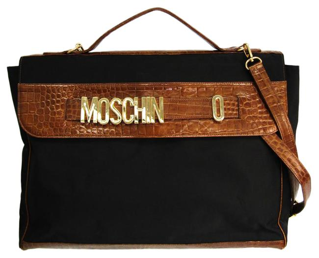 Item - Shoulder Unisex Briefcase Black / Brown Leather / Nylon Messenger Bag