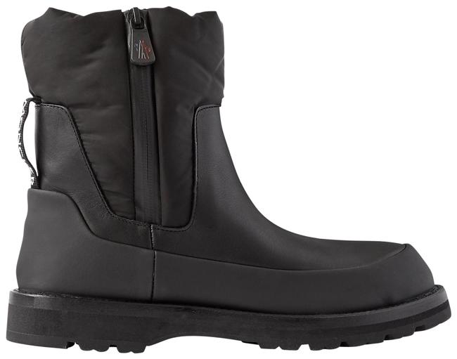 Item - Black Rain Don't Care Paneled Leather and Shell Ankle Boots/Booties Size EU 35 (Approx. US 5) Regular (M, B)