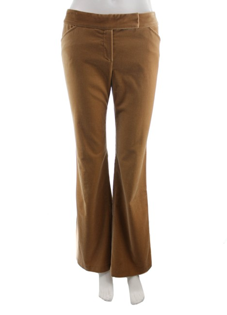 Item - Brown Tan Velour Leg Pants Size 6 (S, 28)