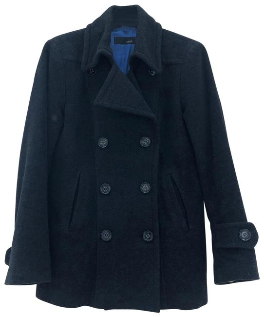 Item - Gray Wool Double Breasted Coat Size 10 (M)