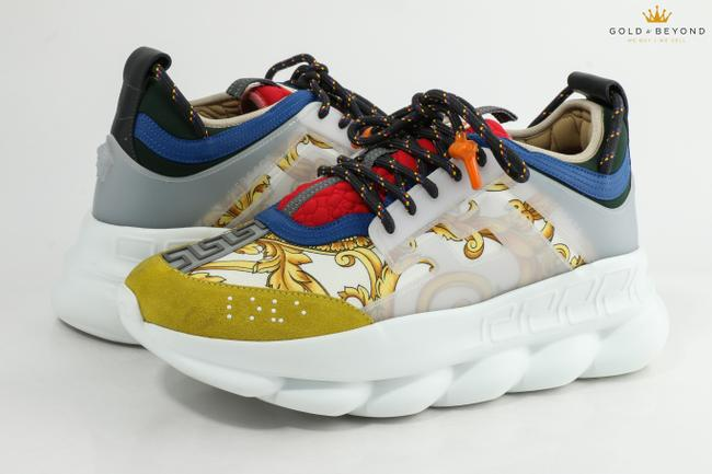 Item - Multicolor Chain Reaction Gold Hibiscus Size 12 Shoes