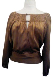BCBG Max Azria Top brown/gold