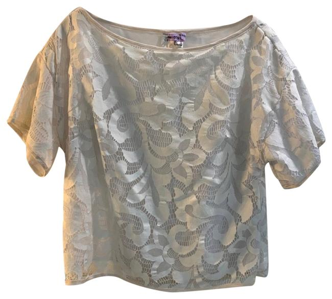 MILLY White Lace Blouse Size 4 (S) MILLY White Lace Blouse Size 4 (S) Image 1