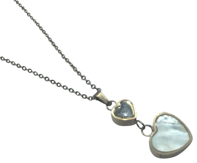 Item - Yellow Gold Rose Gold and White Gold Trendy Love Heart Shape Crystal Necklace