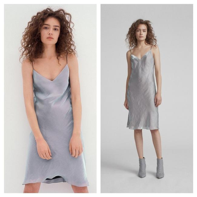 Item - Silver Astrid Mid-length Night Out Dress Size 4 (S)
