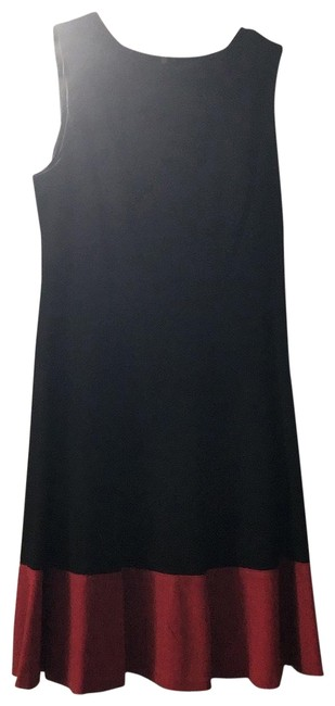 Item - Black with Red Trim Mid-length Work/Office Dress Size Petite 6 (S)