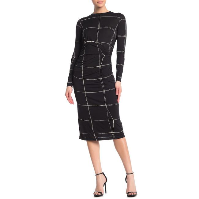Item - Esetta Windowpane Sheath Mid-length Work/Office Dress Size 6 (S)