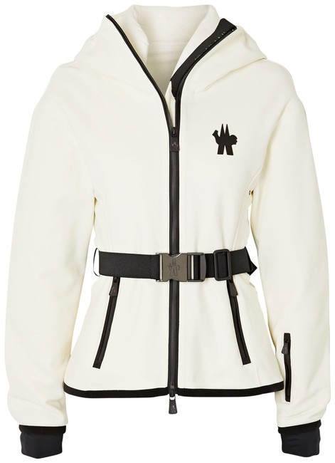 Item - White Grenoble Maglia Hooded Woven Ski Top Activewear Size 12 (L)