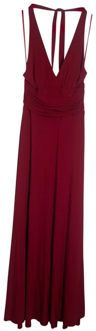 Item - Red Backless Halter Maxi Long Cocktail Dress Size 00 (XXS)