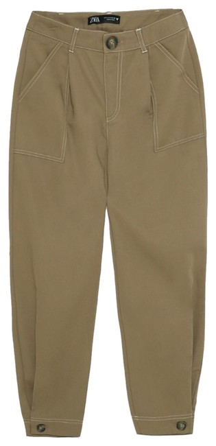 Item - Khaki Brown Slouchy with Topstitching Pants Size 6 (S, 28)
