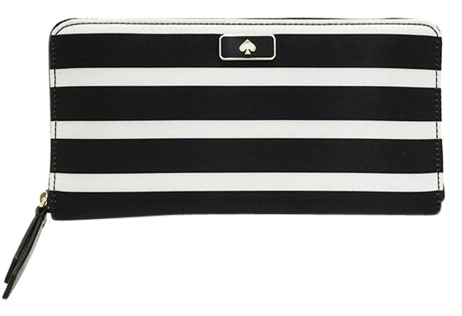 Kate Spade Black / Off-white Purse Round Zipper Nylon Wlru5733 Wallet Kate Spade Black / Off-white Purse Round Zipper Nylon Wlru5733 Wallet Image 1