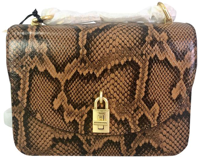 Item - Voltaire Zadig & Rhinestone-wings Chain-strap Equestrian/Gold Leather Shoulder Bag