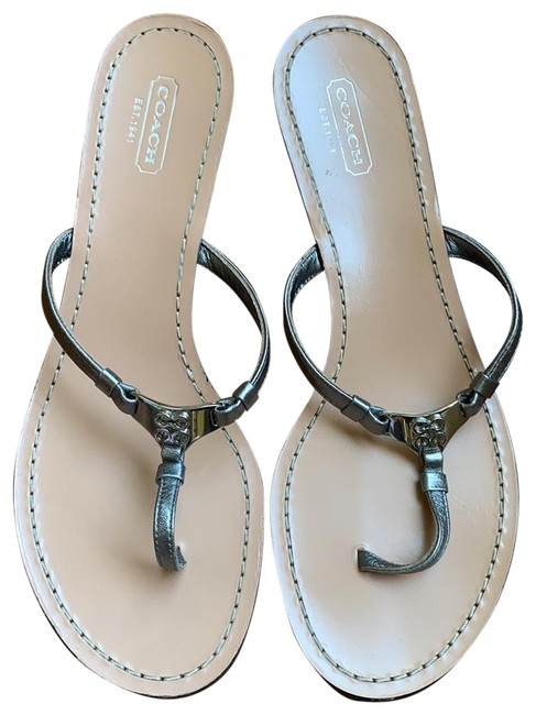 Item - Silver Wedge Sandals Size US 8 Regular (M, B)