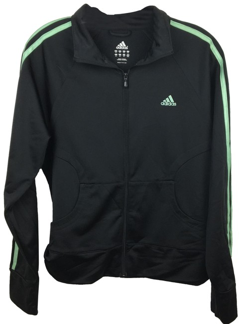 Item - Black Zip Up Activewear Outerwear Size 10 (M)