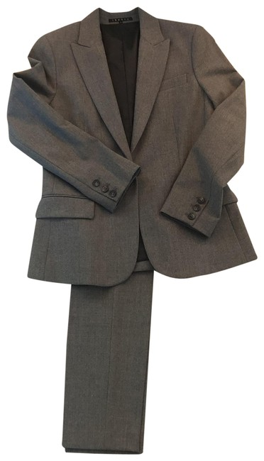 Item - Gray Etiennette Blazer In Wool Pant Suit Size 6 (S)