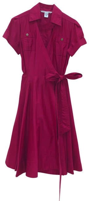 Item - Pink Wrap Mid-length Work/Office Dress Size 6 (S)