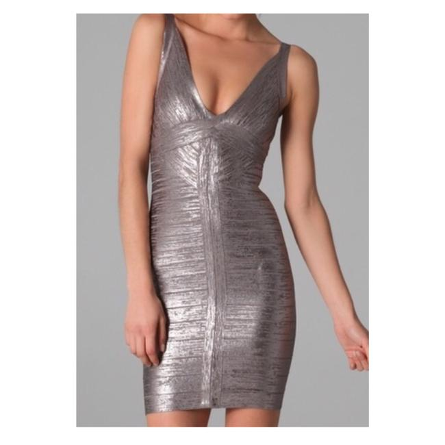 Item - Silver Metallic Trista Banded Short Night Out Dress Size 2 (XS)