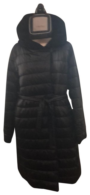 Item - Black Reversible Down Quilted Coat Size 14 (L)