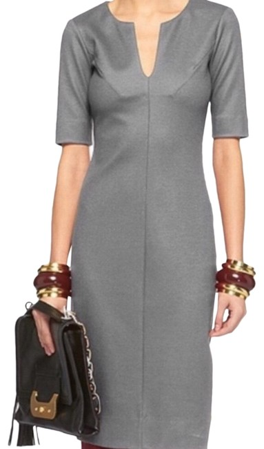 Item - Gray Wool Aurora Sheath Pencil Mid-length Work/Office Dress Size 6 (S)