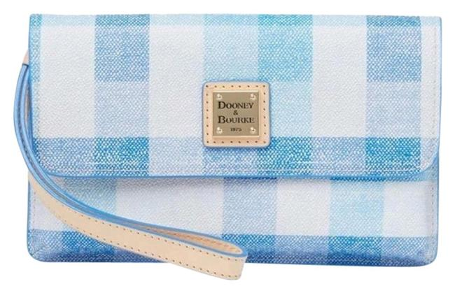 Item - Blue/White Quadretto Check Milly Wristlet Wallet
