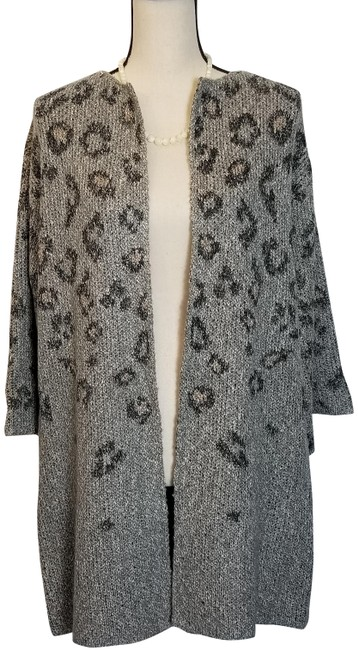 cupcakes and cashmere Gray Kline Tonal Leopard Cardigan Size 4 (S) cupcakes and cashmere Gray Kline Tonal Leopard Cardigan Size 4 (S) Image 1